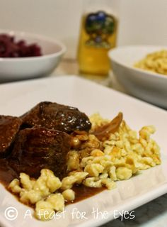 A Feast for the Eyes: Sauerbraten (German Beef Pot Roast with Gingersnap Sauce)
