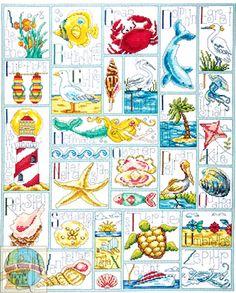 beaches, abc sticken, crossstitch, beach houses, abc cross stitch, beach cross stitch patterns, crosses, cross stitches, embroideri