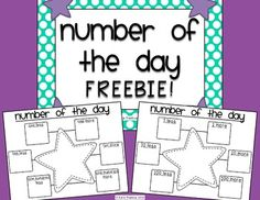 Here's a nice form for working on number of the day.
