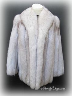 SOLD! Blue Fox Fur Jacket #BF647  Approx. size range: 6 - 10 Petite; Excellent condition.