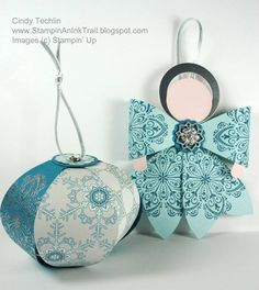 Cindy Techlin Gift Bow Die Projects: Angel Ornament & More, with Video! - DOstamping with Dawn, Stampin Up! Demonstrator