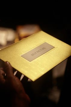 Official envelope of the 85th Academy Awards created by GMUND Paper; #GMUND makes such beautiful papers