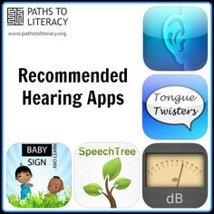 List of Apps for Working with Children Who are Hearing Impaired slp app, sign language
