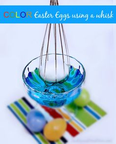 Color Easter Eggs With A Whisk | http://sewlicioushomedecor.com