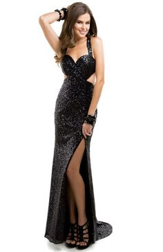 Sexy sequin sheath dress with open back | Flirt #flirtprom #prom #dress #lbd