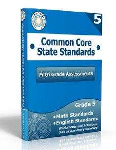 Description: Fifth Grade Assessment Workbook, 5th Grade Assessment Workbook, Fifth Grade Common Core Assessment Workbook, 5th Grade Common C...