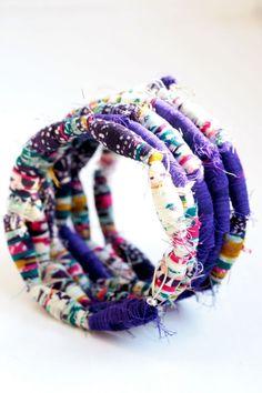 Fabric Bead Bracelet tutorial | Henry Happened