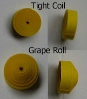 Quilling, Art and Expression: Quilling Shape - Grape Roll