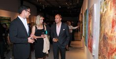James Scott,  Countess Czernin von Chudenitz, and Billy Zane.  Michelle is carrying the New Canaan clutch.