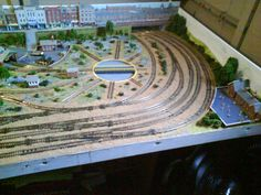 Top view of the model layout. The model seems to be a junction of the trains. A junction is capable of handling multiple trains at a time.