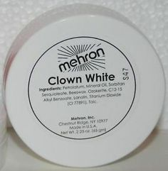 Mehron Clown White Theatrical Circus Face Paint Facepaint Makeup Mime Cosmetic | eBay