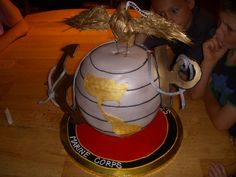 Marine Corps Cake, specialty cake, birthday cake, groom's cake, party cake, http://tiered-expressions.com