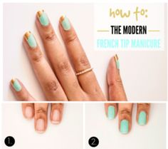 How to Do Modern French Manicure at Home Tutorial