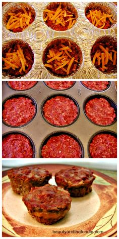 Grain free, cheese-filled min meatloaf