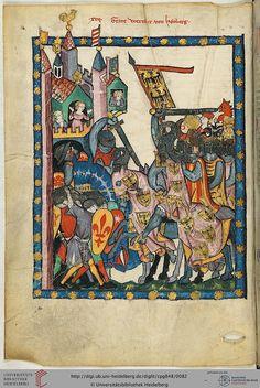 Codex Manesse, Graf Wernher von Homberg, Fol 043v, c. 1304-1340