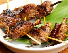 Grilled Beef Teriyaki Skewers