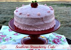 strawberry cakes, southern style, strawberri cake, strawberries, country cooking, mommi kitchen, southern strawberri, 13th birthday, birthday cakes