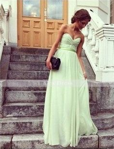 Bridesmaid #mint #green #long-do this in red or gold or light brown!