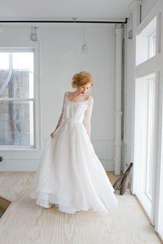 Rowan Wedding Dress Handmade Bridal Dress by madebyanatomy on Etsy