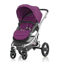 Affinity Stroller by Britax - Silver base frame with Cool Berry color pack #stylish #radiantorchid