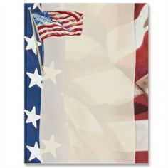 4th of july paper borders