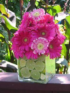 Gerber daisies & limes