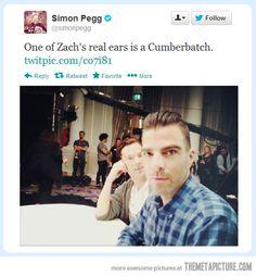 Simon Pegg's observation…