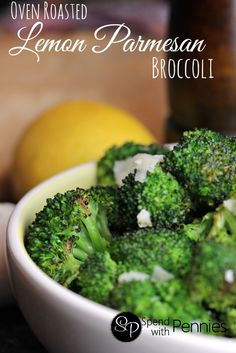 Oven Roasted Lemon Parmesan Broccoli!