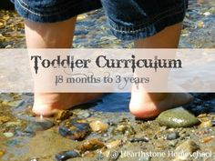 plans for 18 months to 3 years - Great list of Montessori things to work on in list format.