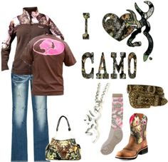 ♥Camo love♥i need everything but the boots :)