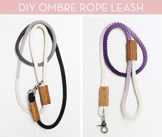 You can make this modern dip-dyped rope leash for your poochies! Right now! Don't delay!