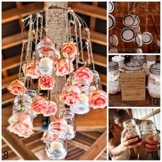 If you like the look of mason jars, take a look at this! Lots of ways to use them in a wedding. 15 Mason Jar Wedding Ideas - Upcycled Treasures