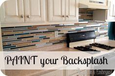 Paint your backsplash