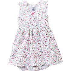PETIT BATEAU Floral-print bodysuit dress 1-36 months (Multi-coloured