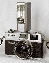 Canon Canonet.  I have one, but am missing the excellent flash attachment.