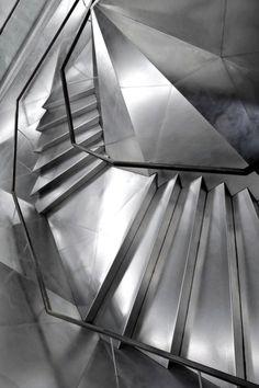 Madrid city center, Caixaforum stairs, Herzog & DeMeuron architects