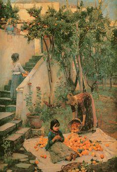 John William Waterhouse: The Orange Gatherers