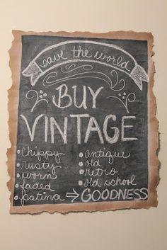 vintage chalkboard sign