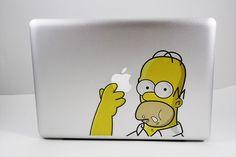 Homer Simpson MacBook Sticker