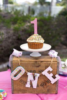 First Birthday One Banner First Birthday Girl by SparklesInLove, $32.50