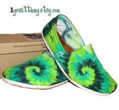 Tie Dye TOMS Shoes Green!