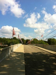 Alderson's historic pedestrian bridge. Saved from demolition, it is now a focal point of the town- home of WV's largest and best 4th of July celebration.