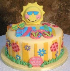 Summer Fondant Cake