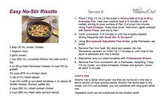 Easy No-Stir Risotto... I made this at a Pampered Chef party and loved it.