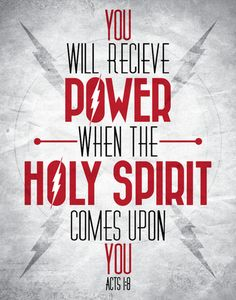 Power from the Holy Spirit.  No matter how many times I see this, I just have to keep re-pinning!!  This is so true and so powerful!!  Power from The Holy Spirit!!