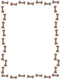 Free fun dog bone border in both jpeg and png formats. Feel free to use them for your classroom, personal, or TpT projects as long as you give cred...