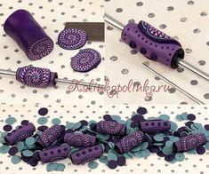 polymer bead tutorial мастер-класс Калинкаполинка.