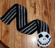 Jack Nightmare Before Christmas Crochet Scarf.