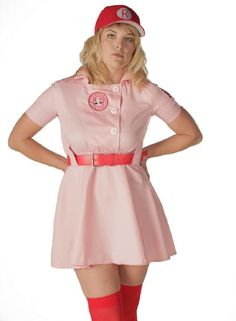 Amazon.com: A League of Their Own Rockford Peaches AAGPBL Baseball Womens Costume Dress: Clothing