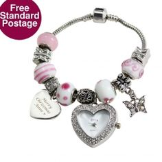 This stunning bracelet is the perfect gift for that special lady in your life, whether for a Birthday, Valentines Day or to simply say I Love You. Personalise the bracelet with a message displayed over 3 lines to make the gift completely unique. The bracelet comes with various charms that you simply twist on to the bracelet to make any design you Please visit if you wish to purchase this amazing product. Please feel free to hit like and repin.
